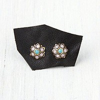 Stone Flower Stud at Free People Clothing Boutique