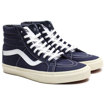 Vans - 10 Oz. Canvas Sk8-Hi Reissue (Dress Blues/Marshmallow)
