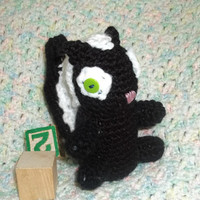 Forest Animal  Soft Toy  Baby Skunk  by ToyBoxflameOfsilver