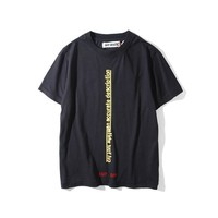 spbest Off-White Cut Your White T-Shirt