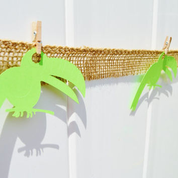 Toucan decor, under the sea, party decor, party garland, luau party, beach party, birthday