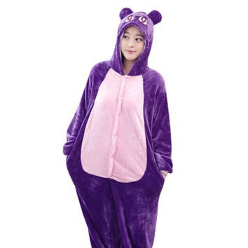 Purple Cat Onesuit - Animal Pajama