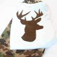 Baby Boy Outfit, 3-6 month Baby Boy Gift, Baby Boy Deer Clothes, Baby Boy Camouflage Outfit, Baby boy Winter Clothes,