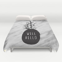 Well Hello Duvet Cover by Cafelab