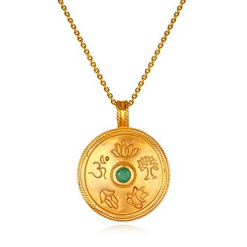 True Paths Emerald Pendant Necklace