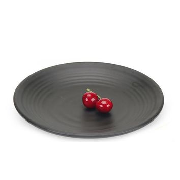Black Melamine Frosted Plates