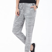 FOREVER 21 Marled Knit Pants Grey/White