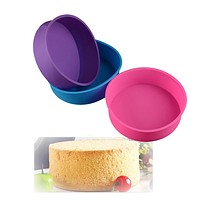 Round Shape Silicone Bread Mold Cake Pan Muffin Non Stick Bakeware Mould Baking Liner Tray