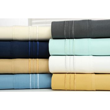 Bamboo Comfort 1800 Series Extra Soft 4 Piece Deep Pocket Bamboo Bed Sheet Set - Hypoallergenic and Wrinkle Resistant