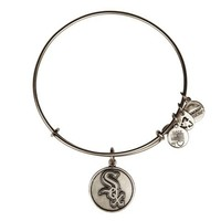 Alex and Ani Chicago White Sox™ Cap Logo Charm Bangle - Russian Silver