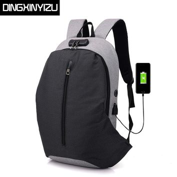 Anti-theft Men Backpack Large Capacity USB Charging Laptop Backpack For Teenager Stundet School Bag Male Casual Rucksack Mochila