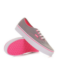 WOMENS VANS AUTHENTIC NEON POP FROST GREY PINK SHOES TRAINERS SIZE 3-8