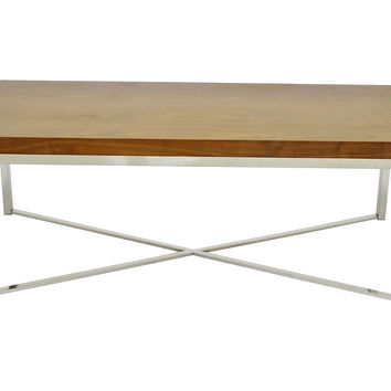Delaney Rectangular Coffee Table, Brown, Cocktail Table, Coffee Table Base