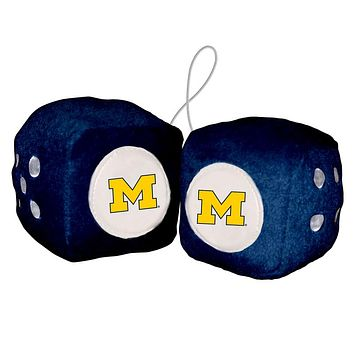 Michigan Wolverines Fuzzy Dice