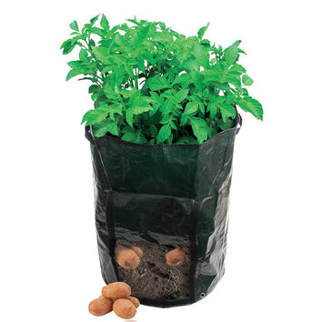 "Garden Potato Grow Bag Vegetables Planter with Access Flap for Harvesting ~ Eco-friendly Waterproof Pe ~ 14"" Diameter X 18"" Heig"