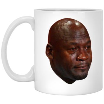 Crying Jordan 11 oz. White Mug
