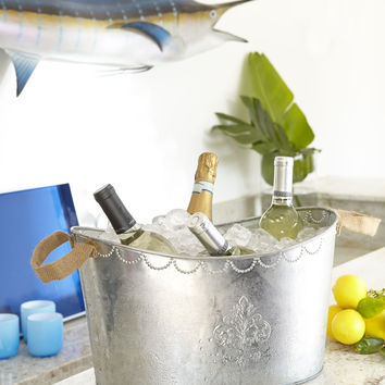 Galvanized Tin Party Tub by Mud Pie