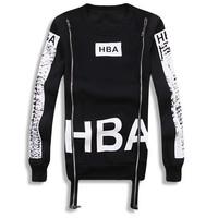 HBA Dual Zipper Long Sleeve Shirt