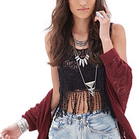 FOREVER 21 Ornate Crochet Top