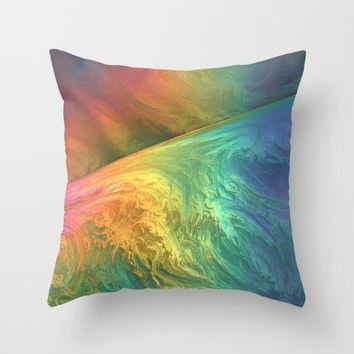 Color Storm Throw Pillow by Lyle Hatch