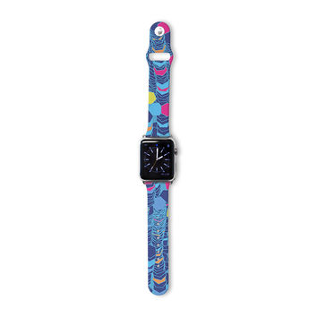 "Frederic Levy-Hadida ""Color Hiving Blue"" Navy Apple Watch Strap"