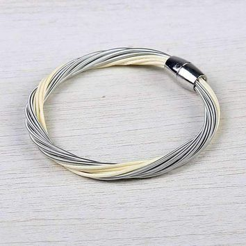 Nadri Layered Harp String Bracelet