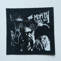 Misfits Static Age Punk Patch Black Fabric Sew On Canvas Danzig Horror Punk Psychobilly
