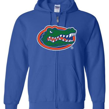 Official NCAA University of Florida Gators The Orange and Blue GATOR NATION! Basic Zip Hoodie - 15UF-1