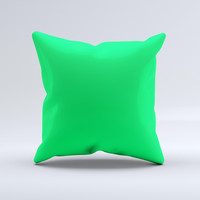 Solid Green V2  Ink-Fuzed Decorative Throw Pillow