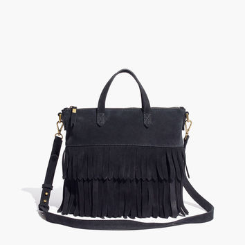 The Transport Crossbody: Suede Fringe Edition
