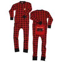 Bear Cheeks Plaid Adult Flapjacks | LazyOne - Pajamas, Funny Boxers & Other Fun Wearables!
