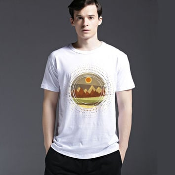 Slim Casual Short Sleeve Summer Tee Cotton Men's Fashion Strong Character Round-neck T-shirts = 6451372995
