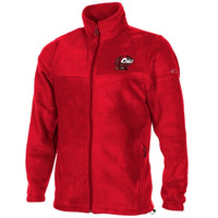 Columbia Temple Owls Flanker Full Zip Fleece Jacket - Cherry