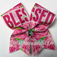 Cheer Bow - Blessed