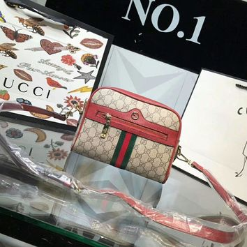 One-nice™ GUCCI Woman Fashion Leather Shoulder Bag Crossbody