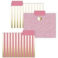 Gold Heart File Folders