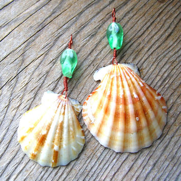 Seashell Pendant Lot - Pendant Lot - Seashell Pendants - Jewelry Supplies - Wire Wrapped