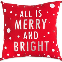 Merry and Bright Decorative Throw Pillow