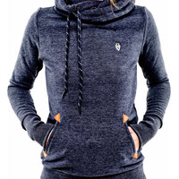 Long Sleeve Badge Hooded Coat