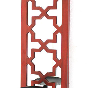 Teton Home Red Candle Holder