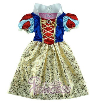 Snow White Costume Disney Princess Costume Children Kids Cosplay Dresses Perform Clothes