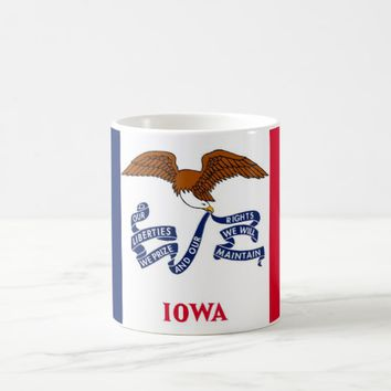 Mug with Flag of Iowa State - USA