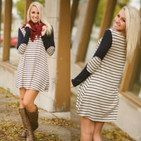 Cross The Line Tunic Dress - Piace Boutique
