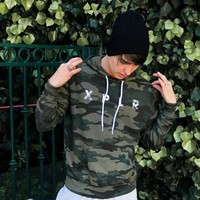 X P L R: LIMITED EDITION CAMO HOODIE