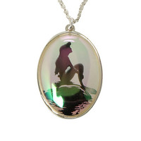 Disney The Little Mermaid Iridescent Silhouette Necklace