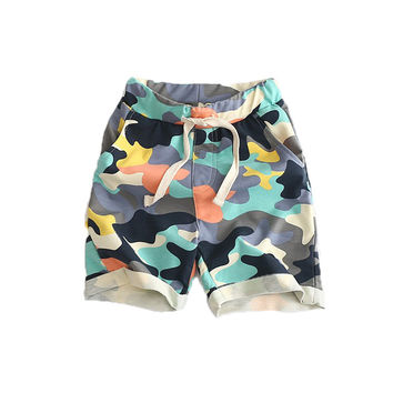 Boys Shorts Camouflage Children Summer Shorts Baby Girls Boy Summer Camo Clothes 2017 Cotton Clothing Toddlers Bottom Red Yellow