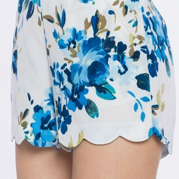 Floral Printed Woven Shorts