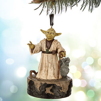 disney store 2015 sketchbook star wars yoda talking ornament new with tags