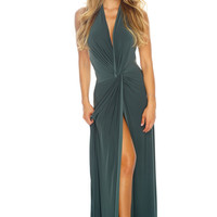 Mariah Knot Dress - Olive
