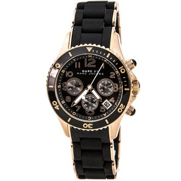 Marc by Marc Jacobs MBM2547 Women's Rose Gold Tone White Dial Chronograph Watch
